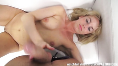 Casting couch fuck with pretty blonde girl