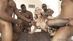 Four black guys gangbang Sarah Vandella