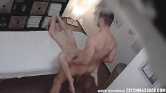 Hard cock gives her massage happy ending