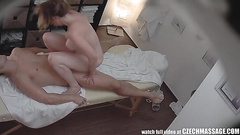 Curvy massage client fucked on the table