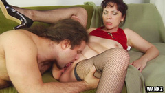 Alex in Mature Brunette Seduces A sexyer Man To Fuck Her - Wankz